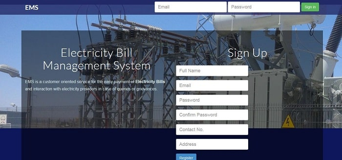 Web-based electricity billing and payment management system (PHP source codes)