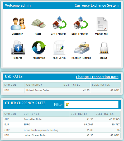 Automated currency exchanger system