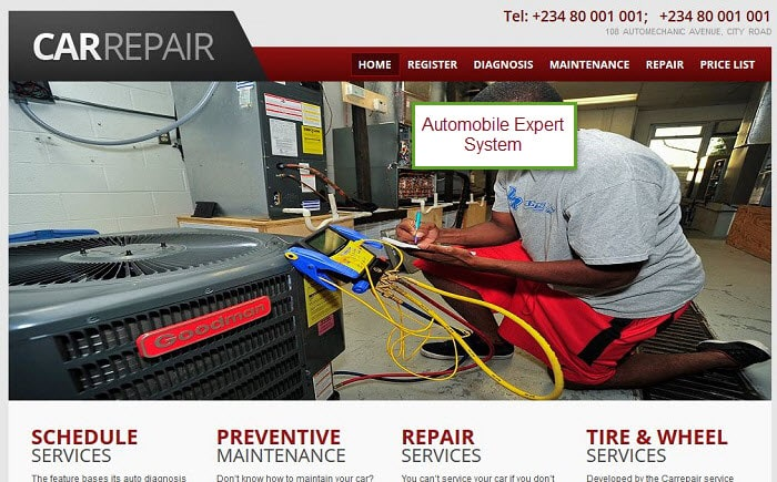 Online expert system for car repair and maintenance (PHP source codes)