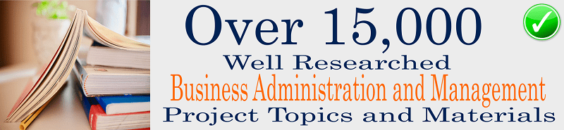 Business administration and management project topics