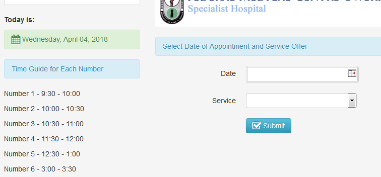 Patients appointment system (PHP source codes)
