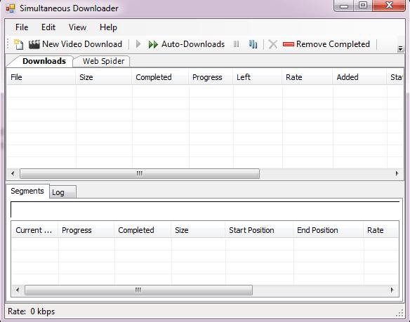 Simultaneous Internet Downloader