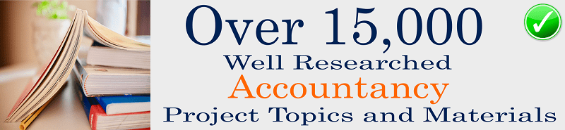 Accountancy project topics