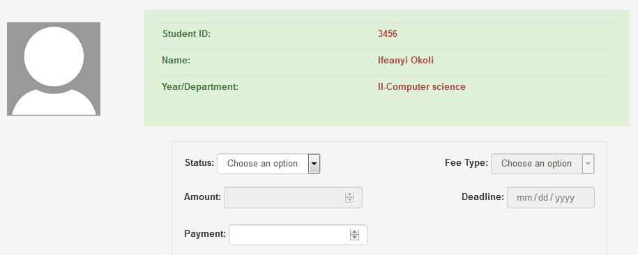 Online students registration and payment system (PHP source codes)
