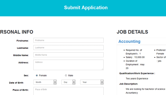 Online job portal website (free php source codes)
