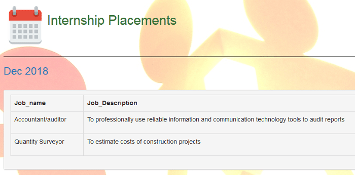 Internship placement information system (free php source codes)