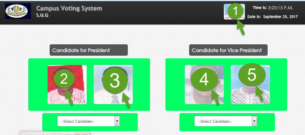 Online campus voting system (PHP Source codes)