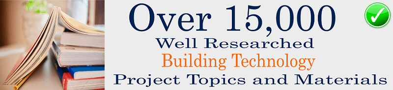 Building technology topics