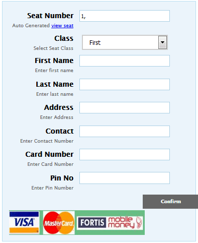 Airline reservation and ticketing system (PHP source codes)