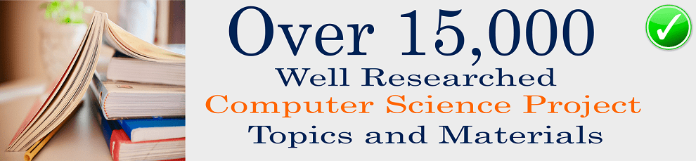 Computer science project topics and materials