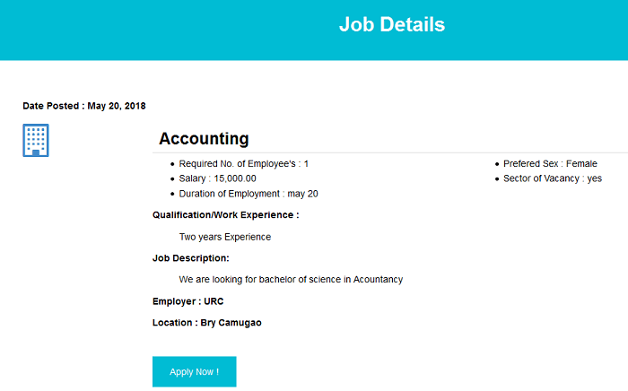 Online job portal website (free php source codes)