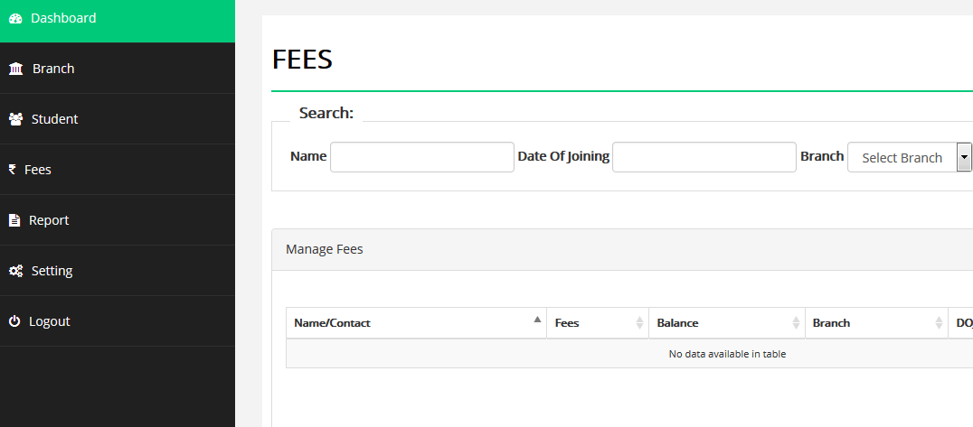 School fees management system (free php source codes)