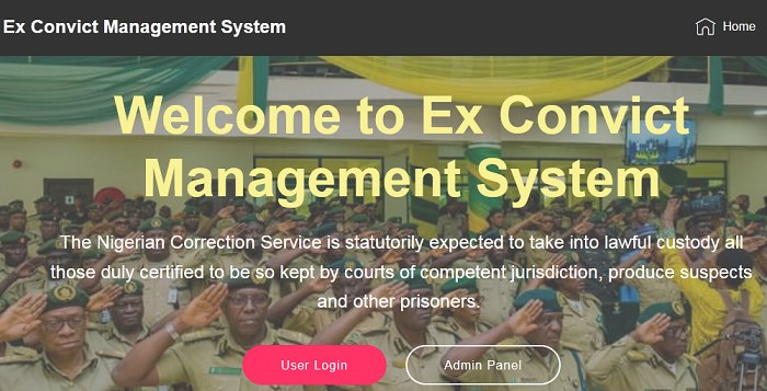 Online ex-convict management system (PHP source codes)