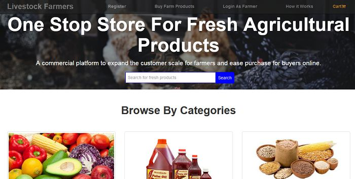 Online farm products order and delivery system  (PHP source codes)