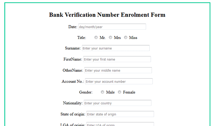 Online bank verification number system (PHP source codes)