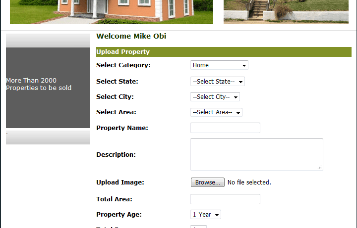 Estate agent and property management system
