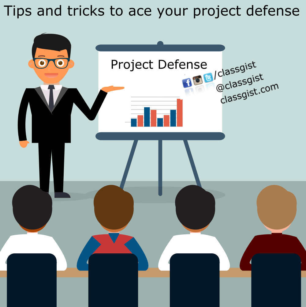 Tips and tricks to ace your project defense