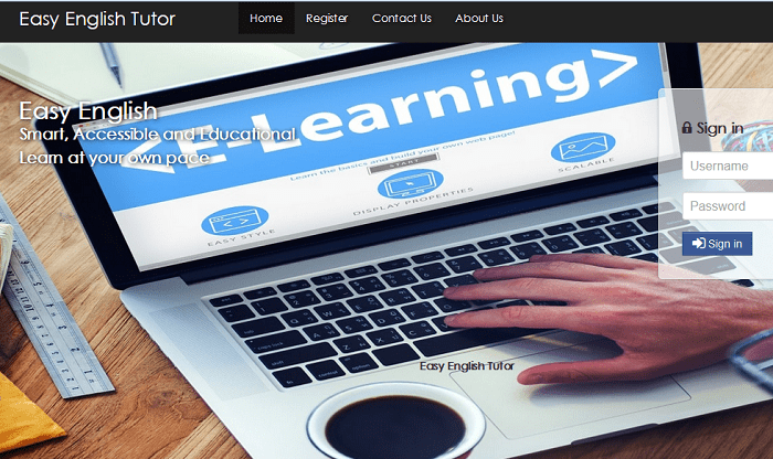Online English tutoring and learning system (PHP source codes)